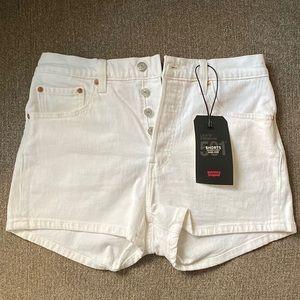 Levi's White Denim Shorts